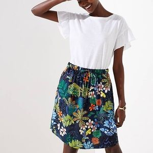 LOFT Tropicalia Tie Waist Skirt in Large Tall